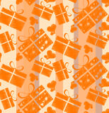 Abstract seamless pattern consisting of boxes with gifts Royalty Free Stock Photo