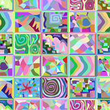 Abstract seamless pattern consisting of many unusual stories. Stock Photos