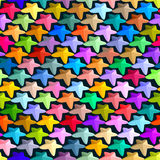 Abstract seamless pattern consisting of multi-colored stars. Stock Photo
