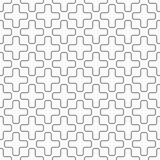 Abstract seamless pattern of crosses with rounded corners or plus signs