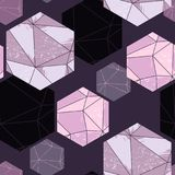 Abstract seamless pattern with crystals. Royalty Free Stock Photography