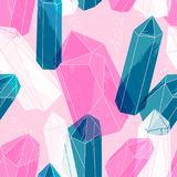 Abstract seamless pattern with crystals. Stock Photography