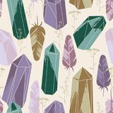 Abstract seamless pattern with crystals. Royalty Free Stock Photos