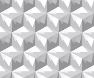 Abstract seamless pattern of cubes. The illusion of a three-dimensional image. Monochrome palette Stock Photo