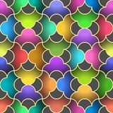 Abstract seamless pattern with curved elements of different  Stock Photo