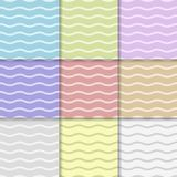 Abstract seamless pattern. Curved lines background. Vector illustration Royalty Free Stock Image