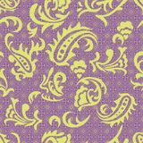 Abstract seamless pattern with curves. Royalty Free Stock Image