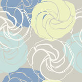 Abstract seamless pattern with cute roses Royalty Free Stock Image