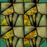 Abstract seamless pattern of 3d sharp green layered stones Stock Images