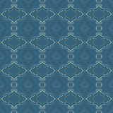 Abstract seamless pattern. A dark blue background. Stock Image