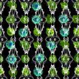 Abstract seamless pattern in dark tones. Royalty Free Stock Image