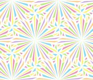 Happy seamless pattern. Abstract seamless pattern for design of party . Multi-colored radial explosions on a white background royalty free illustration