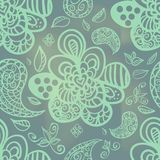 Abstract seamless pattern. Abstract seamless doodle pattern with spot light Vector Illustration