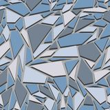 Abstract seamless pattern. The effect of broken glass.  Stock Image