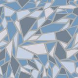Abstract seamless pattern. The effect of broken glass.  Royalty Free Stock Photos