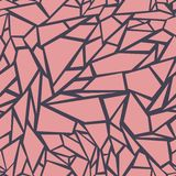 Abstract seamless pattern. The effect of broken glass.  stock illustration