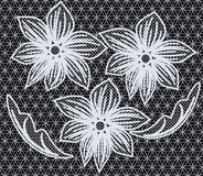 Abstract seamless pattern. Elegant floral openwork seamless ornament, EPS8 - vector graphics Royalty Free Stock Image
