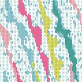Abstract seamless pattern of the elements mosaic. The texture of the fabric. Seams and stitches on the material Stock Photo