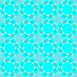 Abstract seamless pattern, faceted blue, turquoise background, Stock Image