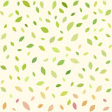 Abstract seamless pattern with falling leaves. Simple floral background Stock Photos