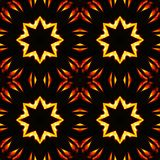 Abstract seamless pattern, fiery stars Royalty Free Stock Image