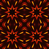 Abstract seamless pattern, fiery stars Royalty Free Stock Photography