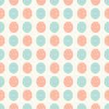 Abstract seamless pattern with fingerprints Royalty Free Stock Image