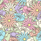 Abstract Seamless pattern with floral background Stock Images