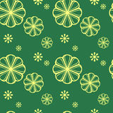 Abstract seamless pattern with floral elements Royalty Free Stock Image