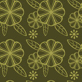 Abstract seamless pattern with floral elements Stock Images