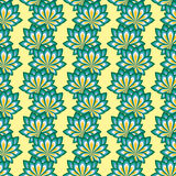 Abstract seamless pattern with floral elements Royalty Free Stock Photography