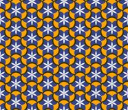 Abstract seamless pattern with floral patterns. Geometric mosaic. Ethnic style vector illustration