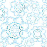 Abstract seamless pattern.  floral snow ornament Royalty Free Stock Photos