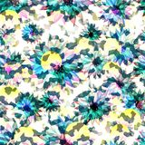 Cute pattern with small flowers. Elegant template for fashion prints. Seamless pattern for use in design. Abstract seamless pattern with flowers blur for your royalty free illustration