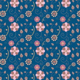 Abstract seamless pattern of flowers. Royalty Free Stock Photography