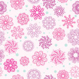 Abstract seamless pattern with flowers Stock Images