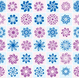 Abstract seamless pattern with flowers Royalty Free Stock Image
