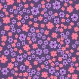 abstract seamless pattern of flowers on a purple background. For prints, cards, invitations, birthday, holidays, party, celebratio royalty free illustration
