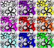 Abstract seamless Pattern with Flowers. Royalty Free Stock Images