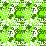 Abstract seamless tile pattern with fluid forms in modern ufo green color. Abstract seamless pattern with fluid forms in modern ufo green color vector illustration