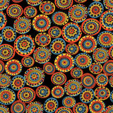 Abstract seamless pattern in folk style. Stock Image