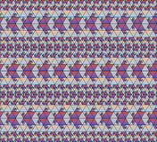 Abstract seamless pattern. Seamless fractal pattern composed of equilateral triangles royalty free illustration