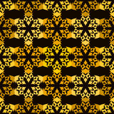 Abstract seamless pattern. A geometric design. Golden coloring. Bright shiny backgrounds. Vector illustration Royalty Free Stock Photos