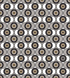 Abstract seamless pattern. geometric ornament. Background in retro 1960s style Stock Photography