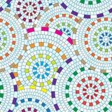 Abstract seamless pattern of geometric shapes. Circular mosaic. Royalty Free Stock Image