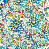 Abstract seamless pattern of geometric shapes. Circular mosaic. Stock Photography