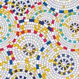 Abstract seamless pattern of geometric shapes. Circular mosaic. Royalty Free Stock Photos