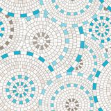 Abstract seamless pattern of geometric shapes. Circular mosaic. Stock Photos