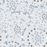 Abstract seamless pattern of geometric shapes. Circular mosaic. Stock Photo