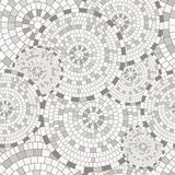 Abstract seamless pattern of geometric shapes. Circular mosaic. Stock Images